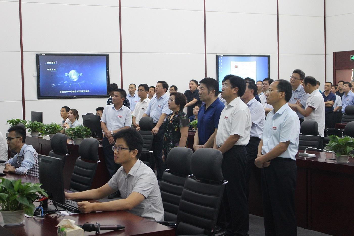 在现场观摩会测评打分汇总中,如是科技的智慧水务项目排名第一。
